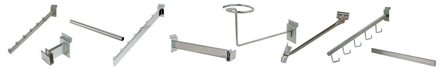 Chrome Slatwall Fixtures