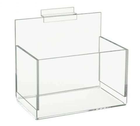 Acrylic Single Hosiery Bin For Slatwall