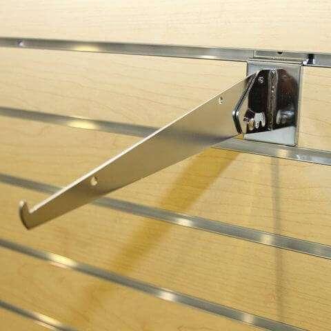 Mounted Adjustable Slatwall Shelf Bracket
