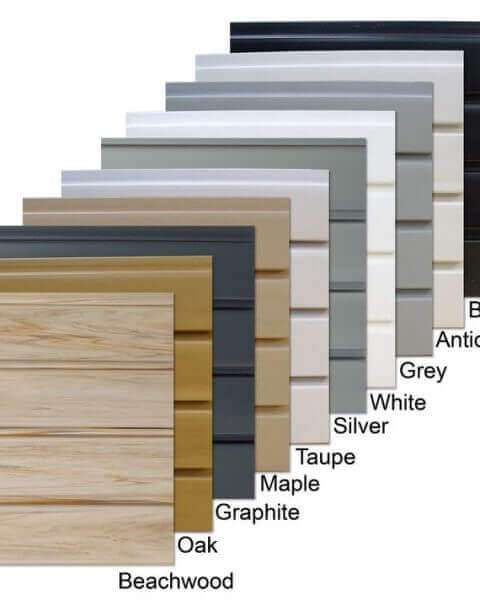 Durawall PVC Slatwall Panels Assorted Colors