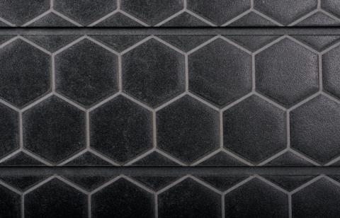 Black Honeycomb Tile Textured Slatwall