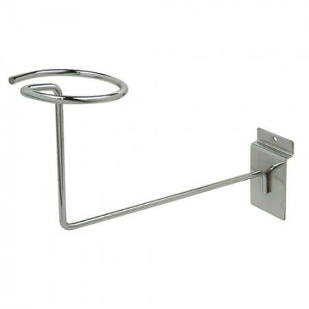 Chrome Slatwall Hat Display Rack