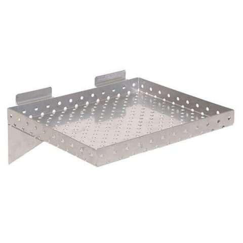 Chrome Small Perforated Metal Shelf