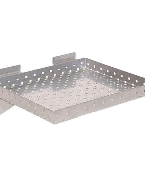 Chrome  Small Perforated Metal Shelf