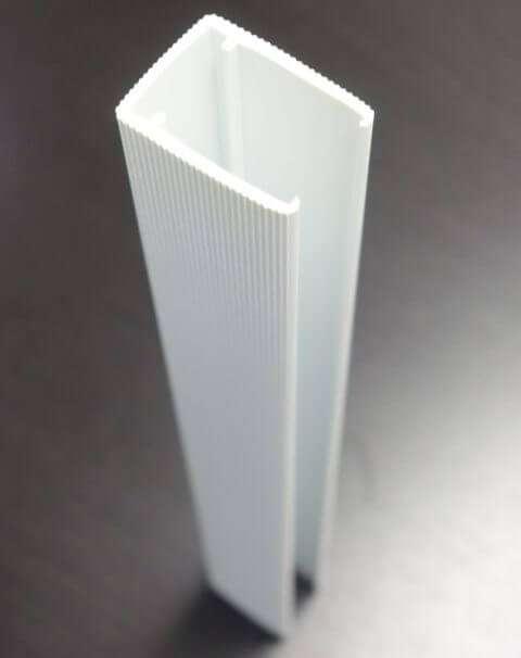 Finish End Cap Cornerform – White