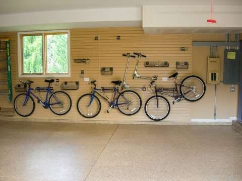 Garage PVC Slatwall System Bicycle Mounts