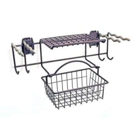 Garden Rack with Basket & Hooks - 1