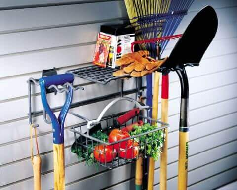 Garden Rack with Basket & Hooks - 2