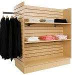 H Slatwall Display Unit - Maple
