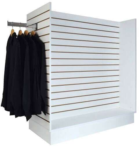 H Slatwall Display Unit - White