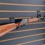 Horizontal Firearm Display Hook w/ Rifle Mounted