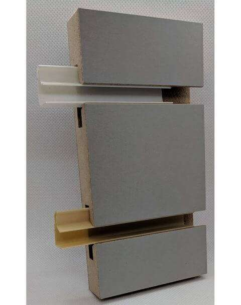 J Snap-In Plastic Inserts - White & Almond