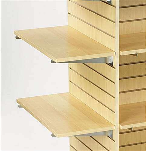 Maple Melamine Slatwall Shelves On Display