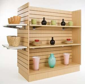 Maple Melamine Slatwall Shelves