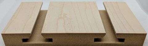 White Maple Veneer Slatwall Panel - Side