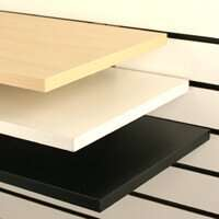 Melamine Slatwall Shelves White, Black & Maple