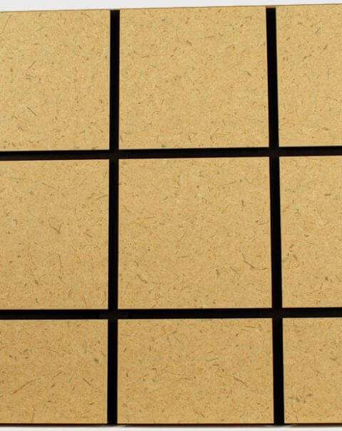 Paint Grade Cubed Slatwall Panel