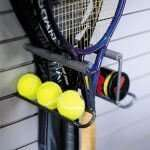 Racquet Rack with Tennis Ball Holder - 2