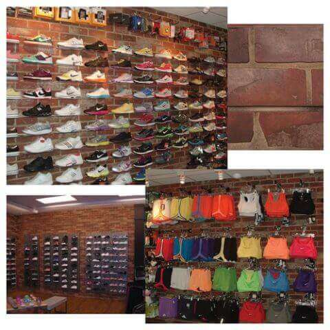 Red Brick Slatwall In Retail Stores