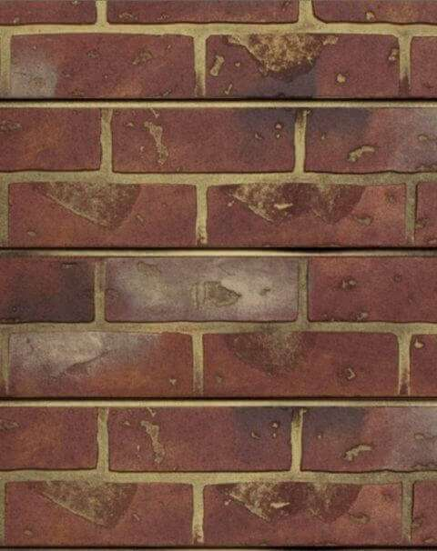 Red Brick Textured Slatwall Panels