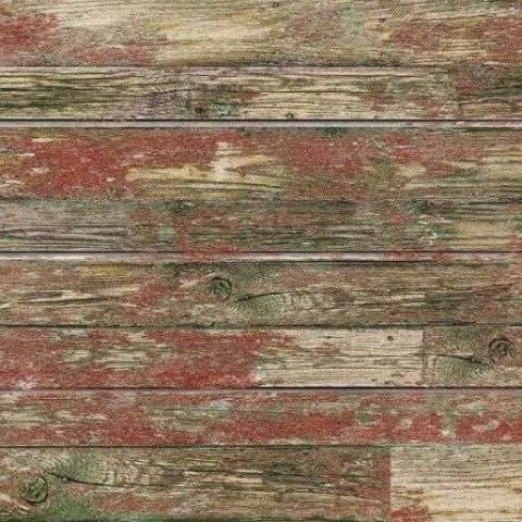 Red Old Paint Textured Slatwall Panel