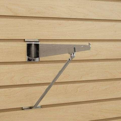 Slatwall Support Arm For Shelf Bracket