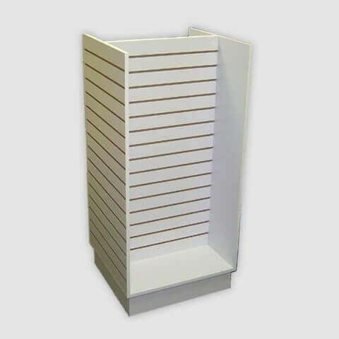Small H Slatwall Display Unit - White