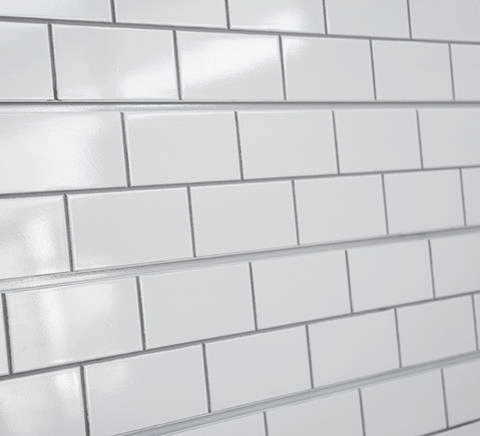White Subway Tile Textured Slatwall