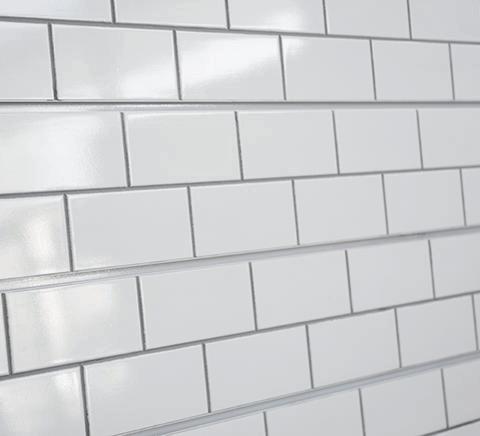 White Subway Tile Textured Slatwall