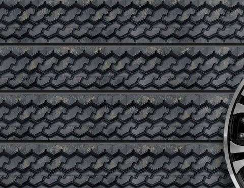 Tire Tread Textured Slatwall Panels