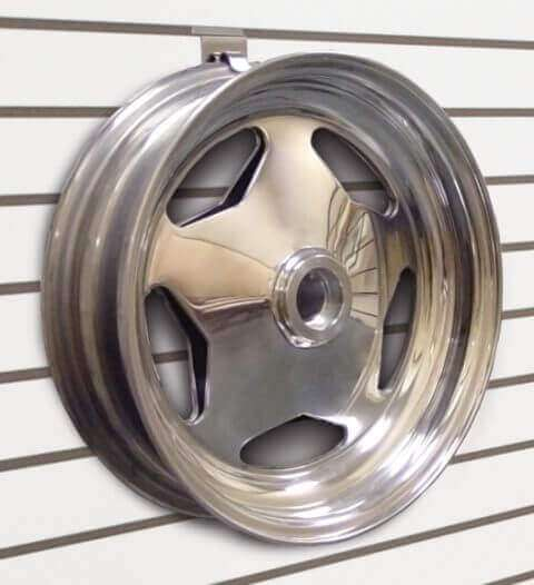 Wheel Rim Mounted On Slatwall