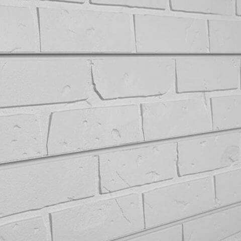 White Brick Textured Slatwall Panels