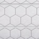 White Honeycomb Tile Textured Slatwall