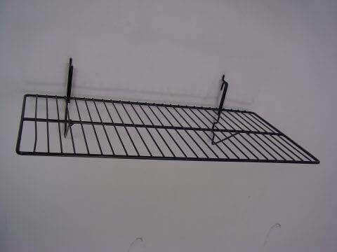 Black Wire Slatwall Shelf