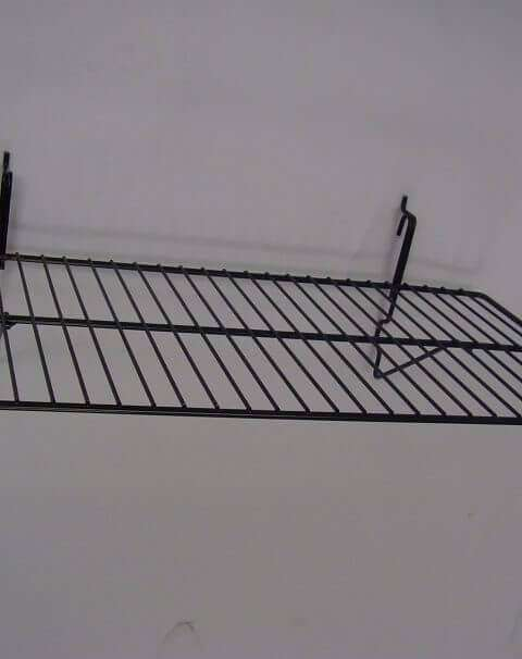 Black Wire Slatwall Shelf