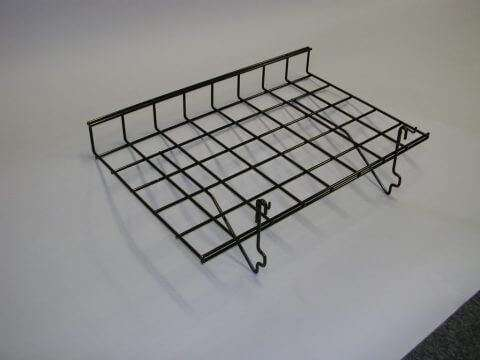 Black Wire Slatwall Shelf w/ Lip