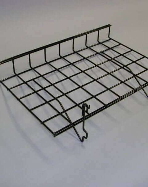 Black Wire Slatwall Shelf w/ Lip